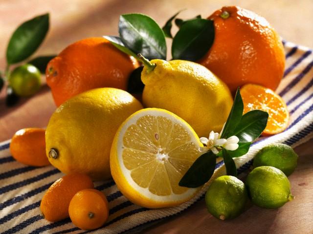 Цитрусовые - источник витамина С