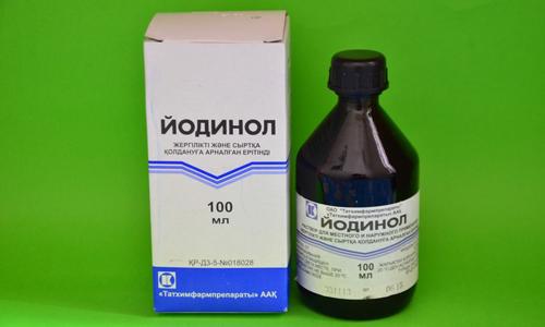Препарат Йодинол для лечения грибка