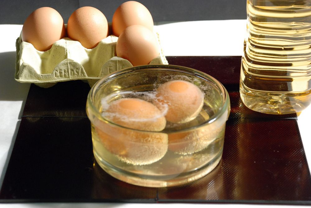 Грибок ногтей лечение уксус яйцо масло сливочное